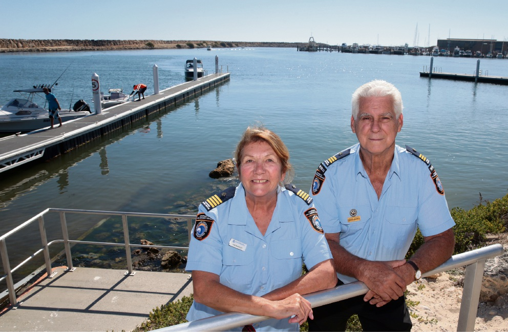 Commander Pam Annesley and Deputy Commander David Haynes, from Two Rocks Volunteer Marine Rescue Group. Picture: Martin Kennealey www.communitypix.com.au   d467890