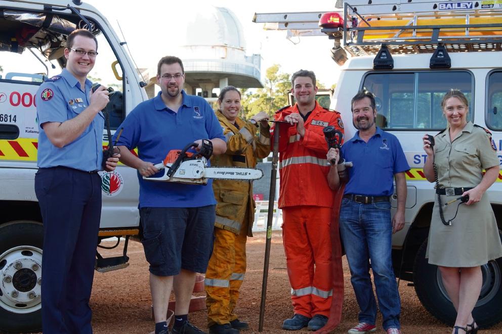 Volunteers from Kalamunda SES and Kalamunda Fire Brigade.