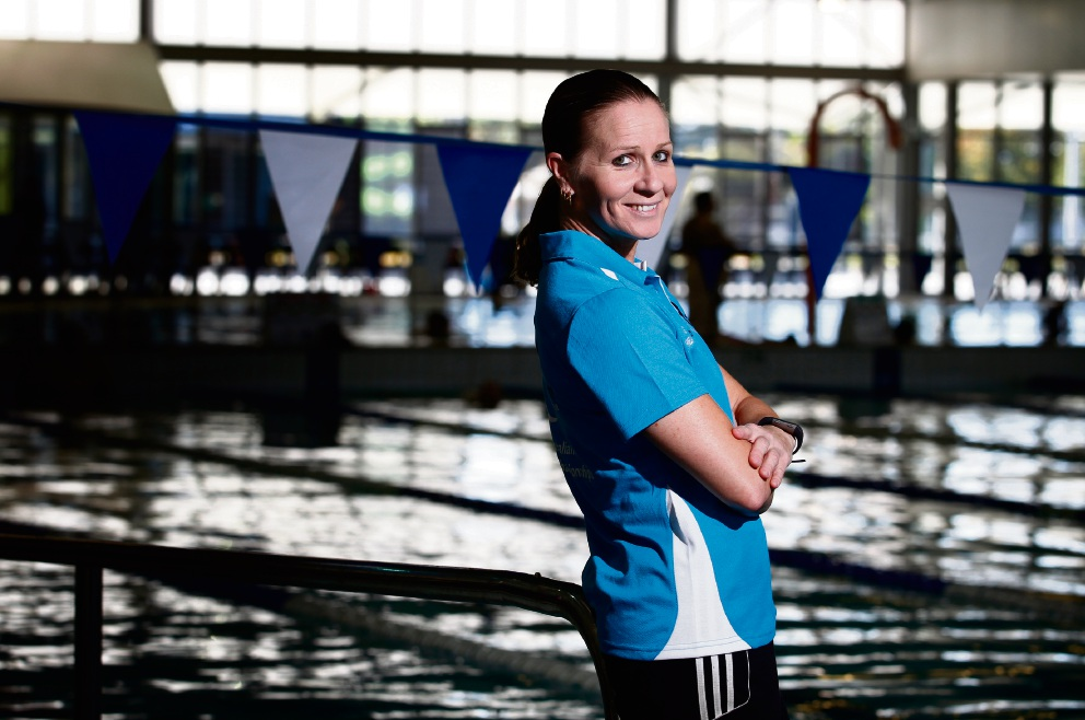 Swim coach Gemma Harrington.