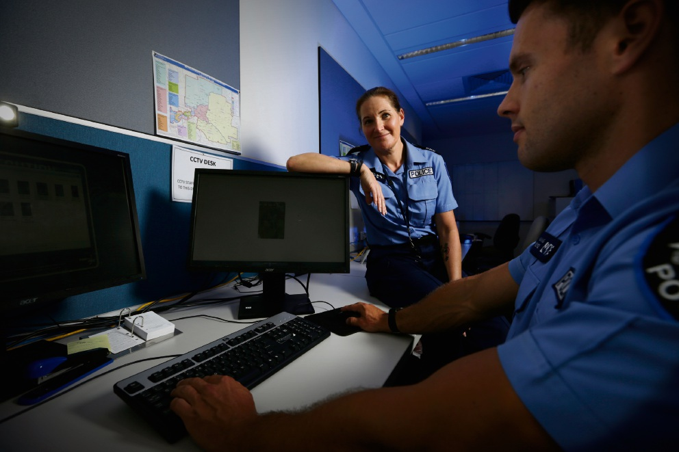 Sergeant Cassie McPhie and Constable Joel Young will take CCTV from the internet cloud.
