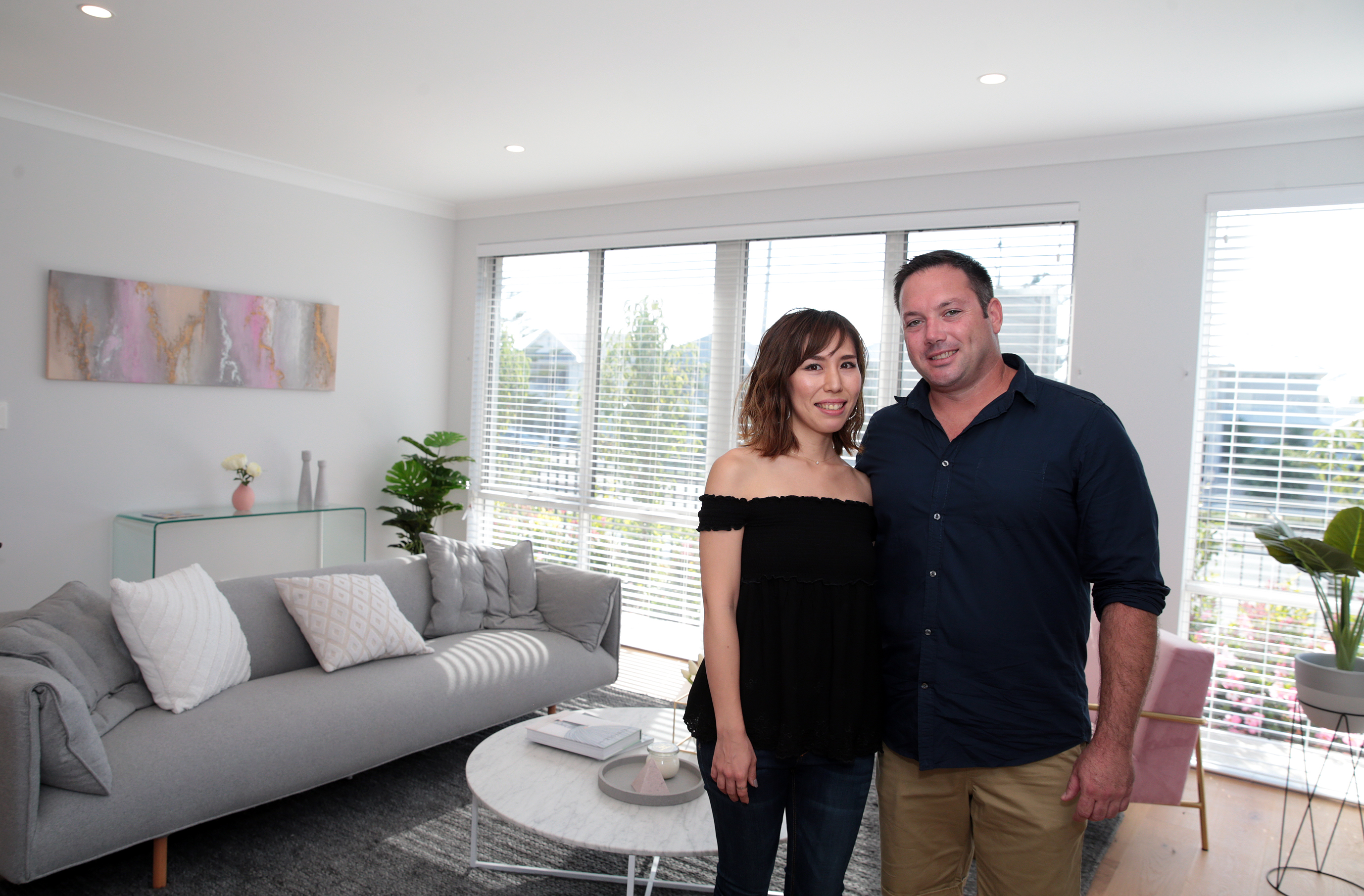 Success couple Kaori Tanaka and Ben Marshall won the MSWA Mega Home Lottery grand prize. Picture: Martin Kennealey d468401