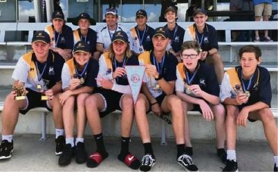 The Baldivis White Knights Under-17 cricket team.