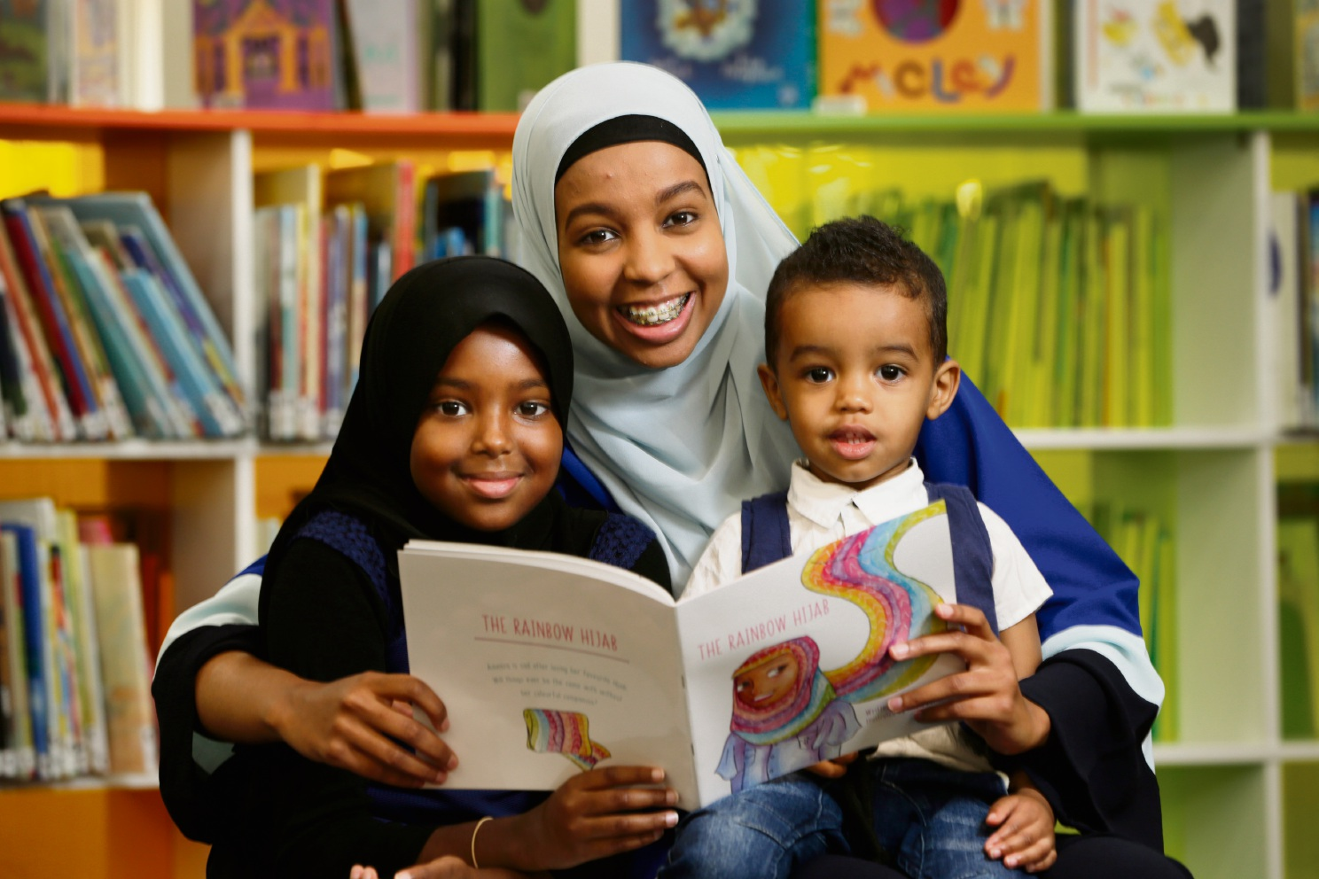 Maryan Abdiwohab (10), Amran Abdi and Layth Mukhtar (2).  Picture: Andrew Ritchie d467802