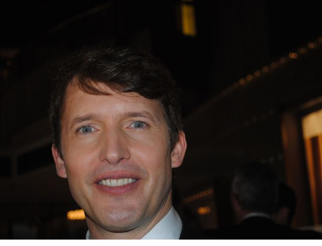 James Blunt on the red carpet before the awards started.