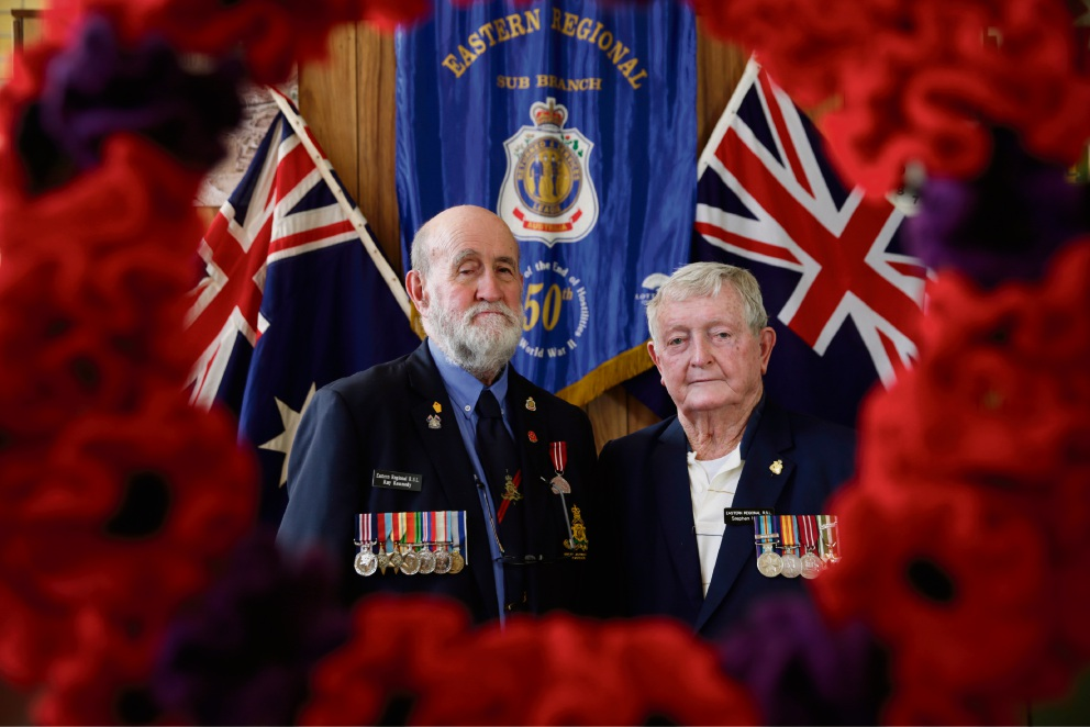 Raymond Kennedy and Stephen Harper will be hosting an Anzac Day service. Picture: Andrew Ritchie        www.communitypix.com.au d468288