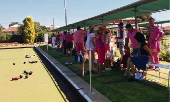 A pink sport day fundraiser was held at the Hilton Park Bowling Club this month.