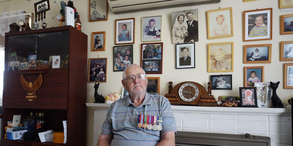 Jim Symons (91). Picture: Jon Hewson