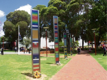 Vandalised Memorial Ribbons monument resurrected in time for Anzac Day