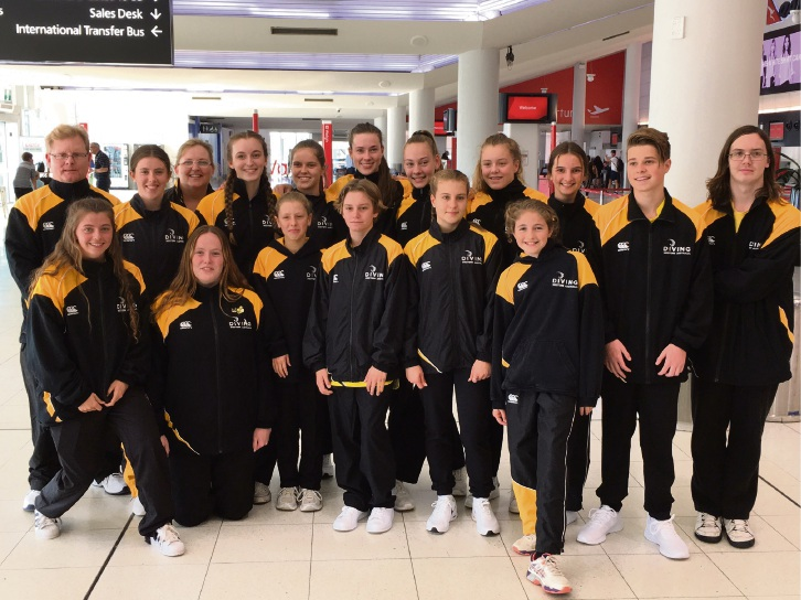 The WA team won the Club of the Year award for the second year running at the 2017 Australian Diving Age Championships.
