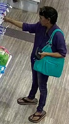 Police search for woman after Midland pharmacy theft
