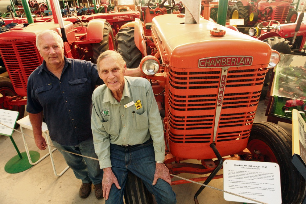 Tractor Museum founding members Harry Heuvink and Ron Waterhouse. Picture: Bruce Hunt    d468232