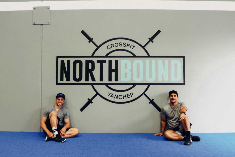 North Bound CrossFit owners John Dunlop and Manasseh Gudgeon.