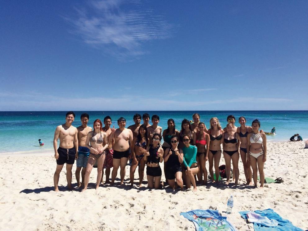 UWA international students at Mullaloo Surf Life Saving Club.