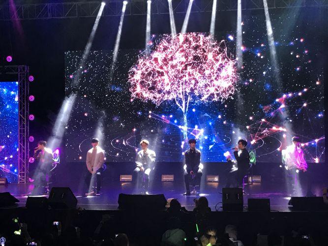 K-Pop sensation GOT7 at Perth Conventoin Centre. Picture: Kristie Lim.