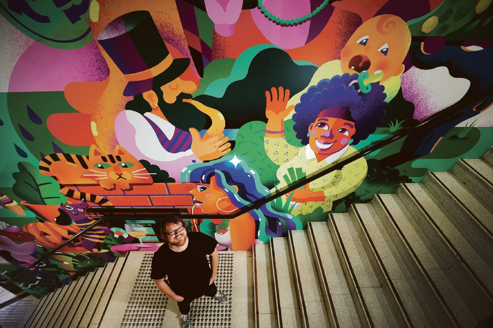 Mt Hawthorn: steet artist steps out of comfort zone for Mezz mural