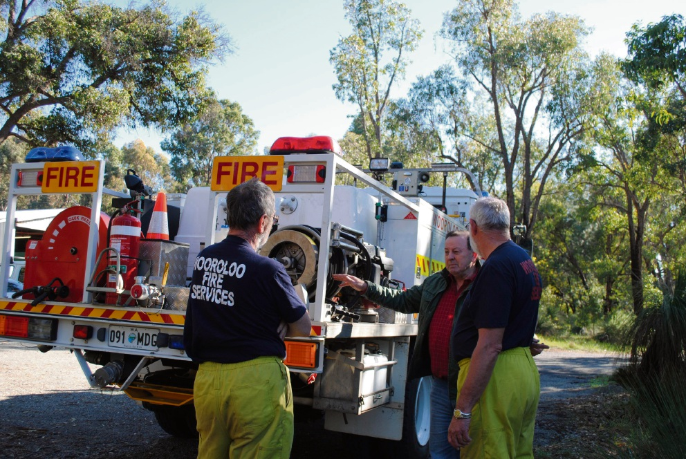 Swan Hills MLA Frank Alban with firefighters from Wooroloo Volunteer Bush Fire Brigade.