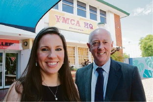 Laura Koh and Paul Miles at the Leederville YMCA. Picture: Giovanni Torre