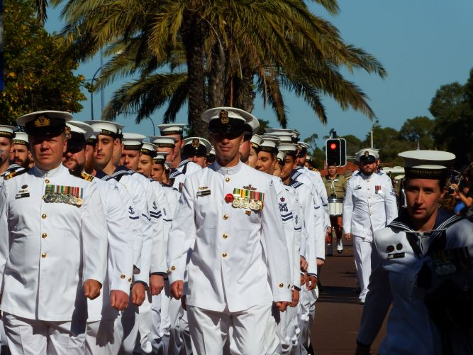 Anzac Day service in Rockingham. Picture: Sharon Slater