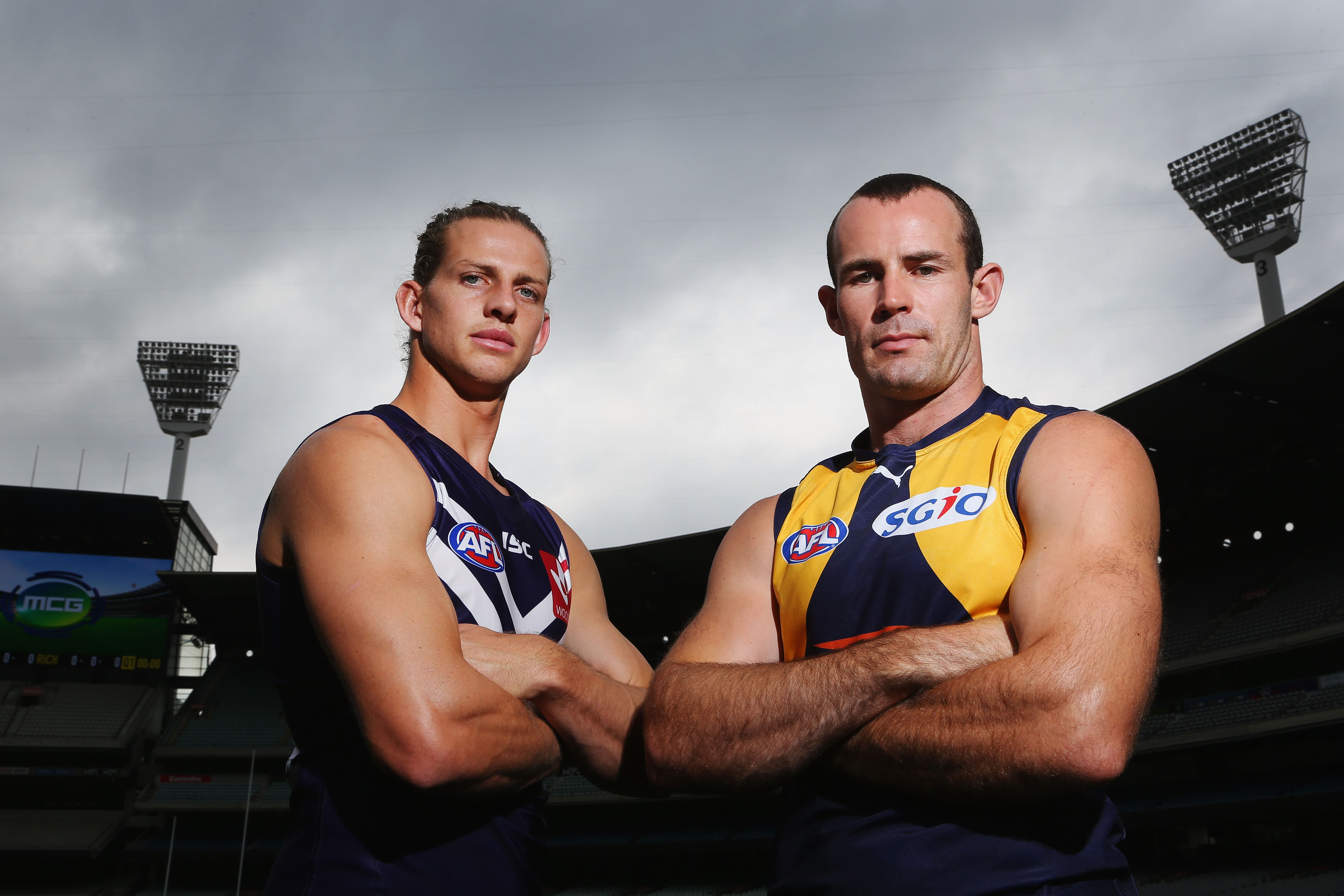 Nat Fyfe and Shannon Hurn. Photo: Getty