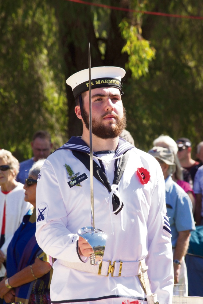 Yanchep Two Rocks RSL service and march in Yanchep National Park.