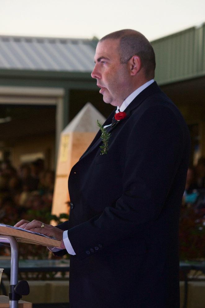 Tim Ramsay doing a recitation.