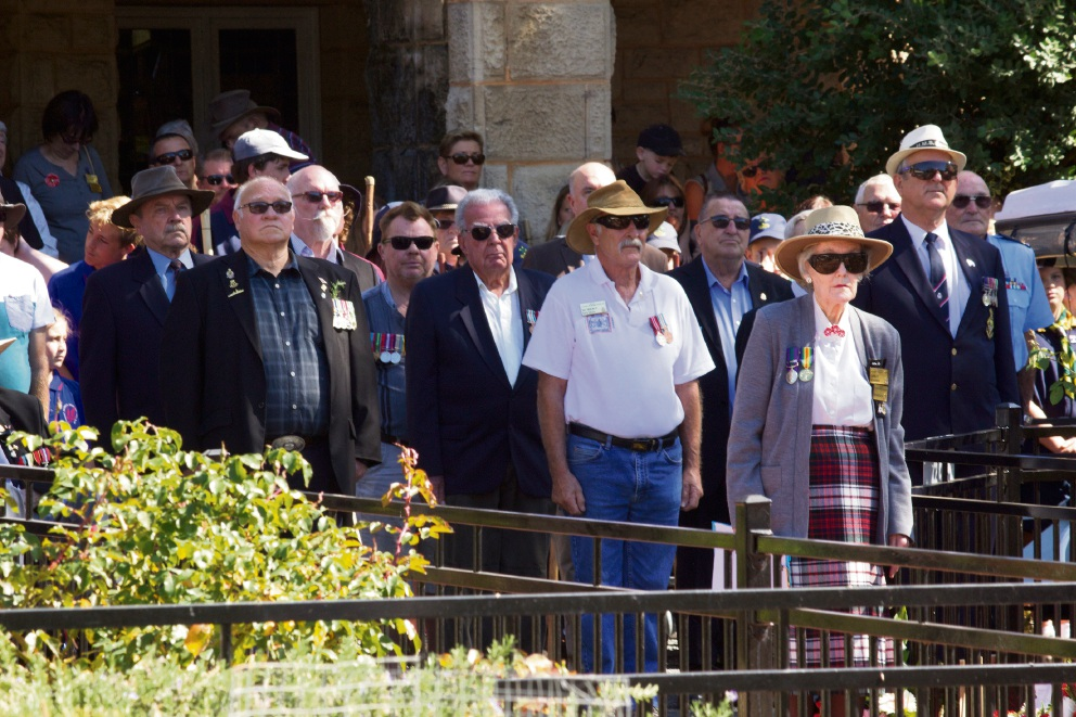 Veterans at the Yanchep Two Rocks RSL service.