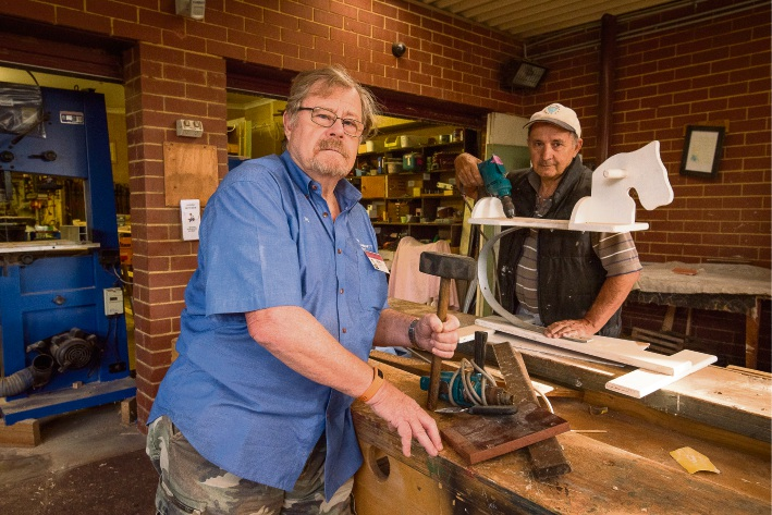 Canning Men's Shed treasurer Ron Croager of Canning Vale and member Brian Bird of Willetton are angry about the recent theft of tools.