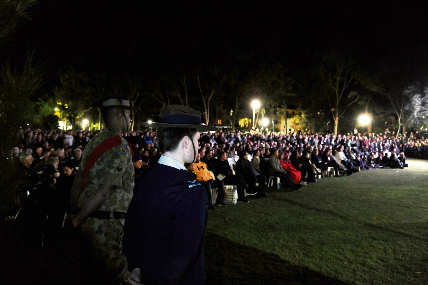 A big crowd that turned out to the Joondalup Dawn service.
