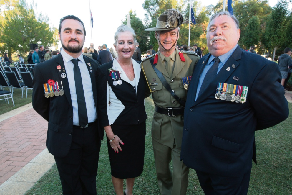Jack Dunn, Wanneroo Mayor Tracey Roberts, Brigadier Philip White and Arthur Ventham.