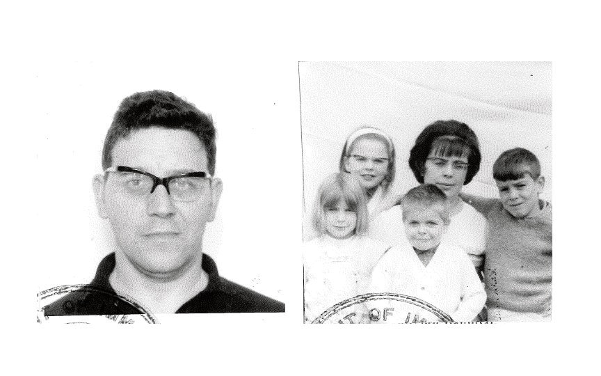 The Brodys photo as it appears on their immigration papers.