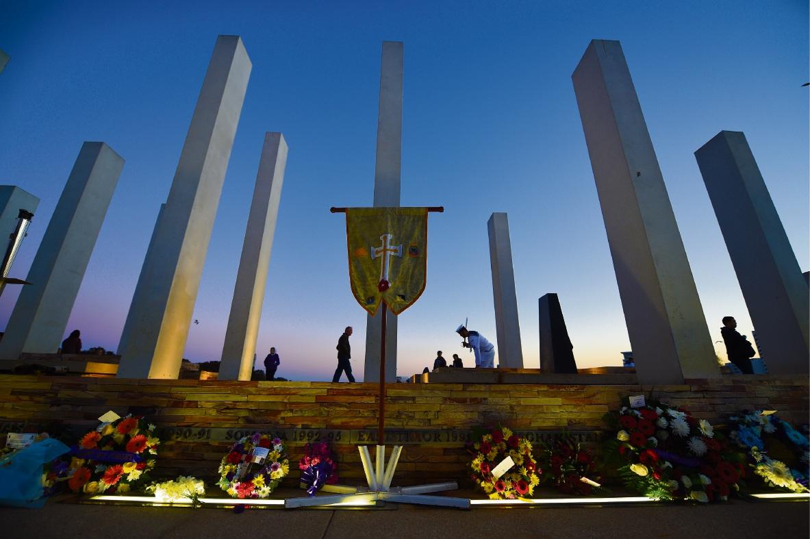Mandurah Anzac Day service. Picture: Jon Hewson