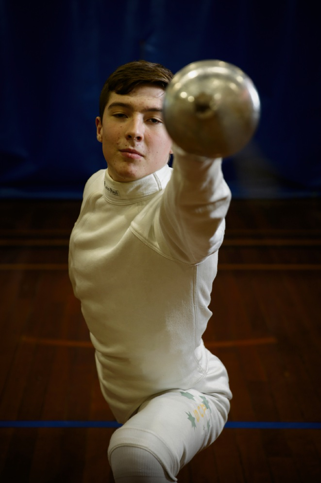 George Dale (16) from Scarborough has notched up impressive results with the bronze team medal at the Asian Junior and Cadet Fencing Championships. Picture: Andrew Ritchie