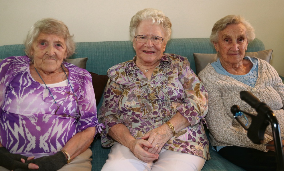Mary Thorp,Margaret Freeman and Connie McNaughton.