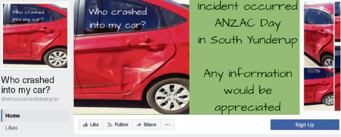 "Mandurah's Uber Mum starts Facebook page to find ""who crashed into my car"""