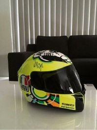 The signed Valentino Rossi helmet that was stolen from a Baldivis home.
