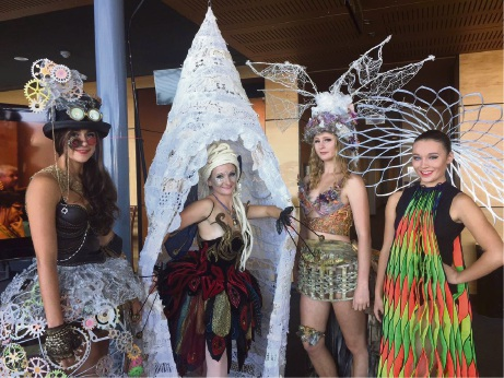 Four of the Wearable Art designs to be showcased at the Wearable Art event in June.