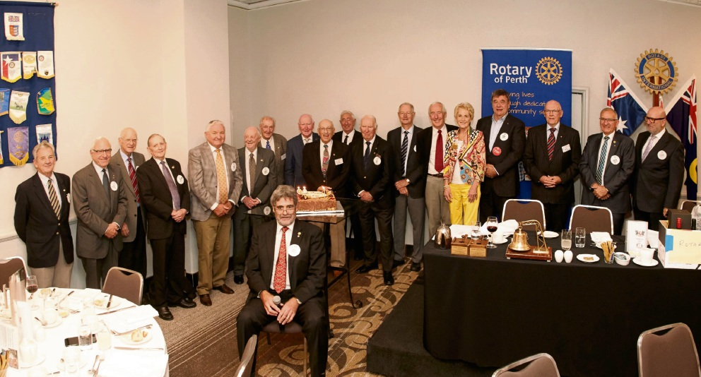 Rotary Club of Perth celebrates 90th anniversary by bringing former presidents together