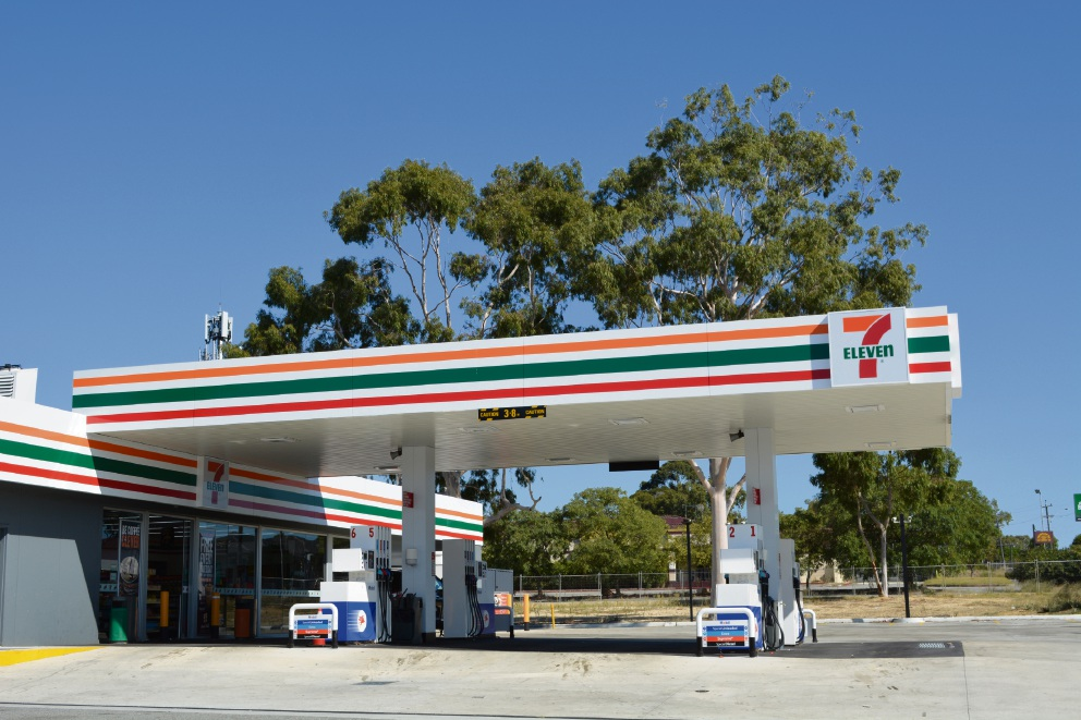 An existing 7-Eleven convenience store and service station in Balga.