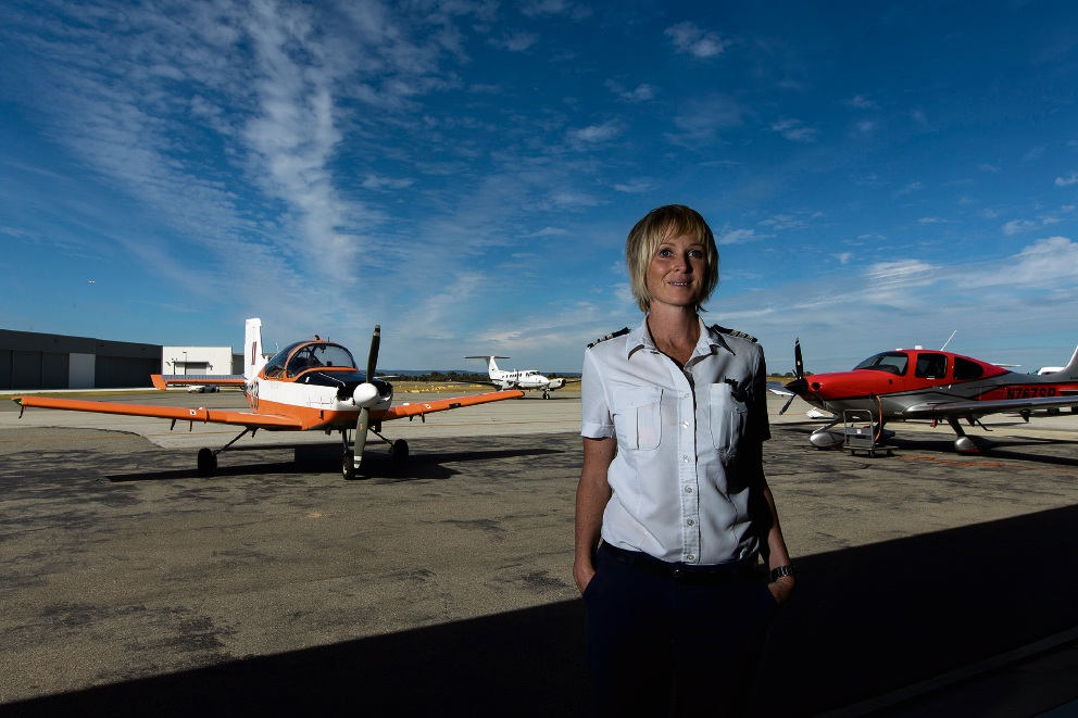 Senior flight instructor Carrie Munro. Picture: Will Russell        www.communitypix.com.au   d468403
