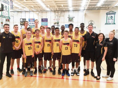 Tyrone Thwaites (far left) with the Under-16 Metro Men's side for Perth, July 8-15.