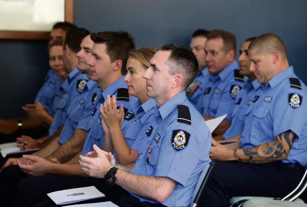 Cops doing it WA-style after graduation at Joondalup Police Academy