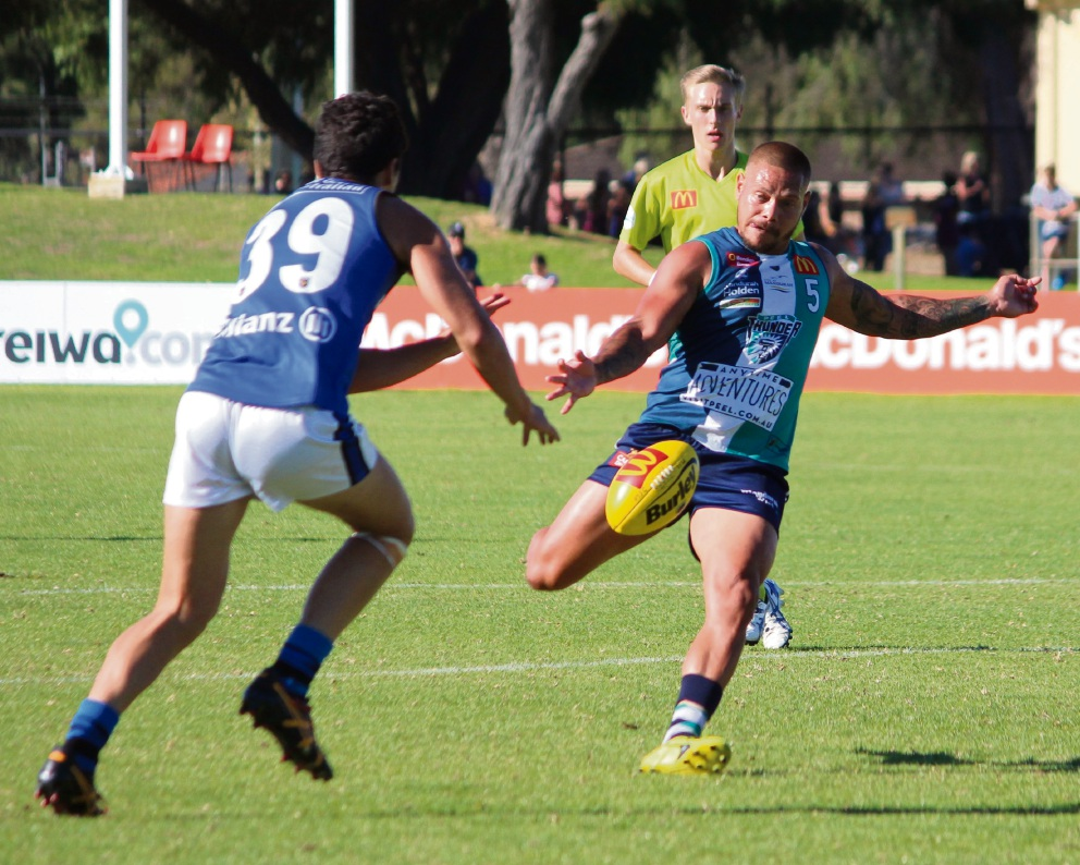 WAFL: Jetta's four goals not enough to get Thunder over the line against East Perth