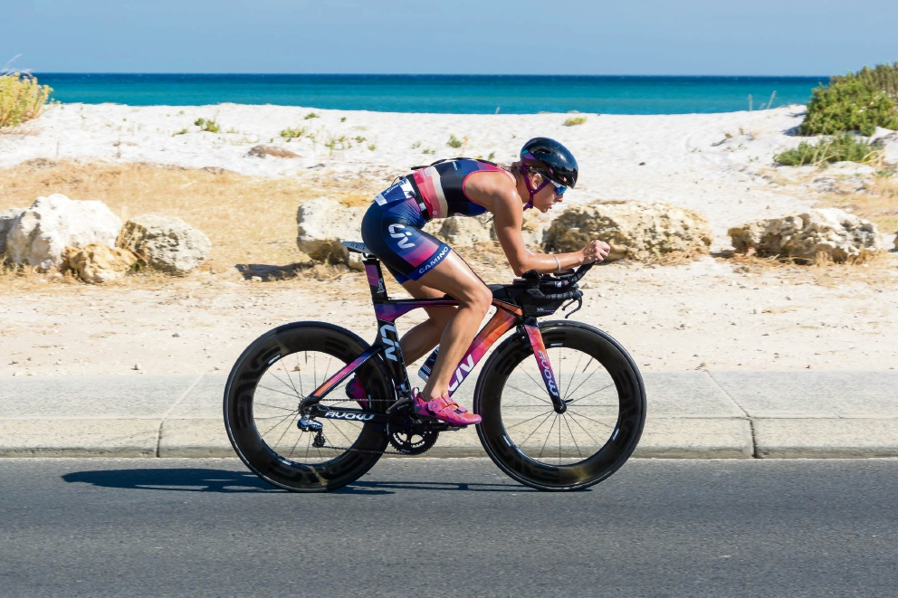 Triathlete Renee Baker in action.
