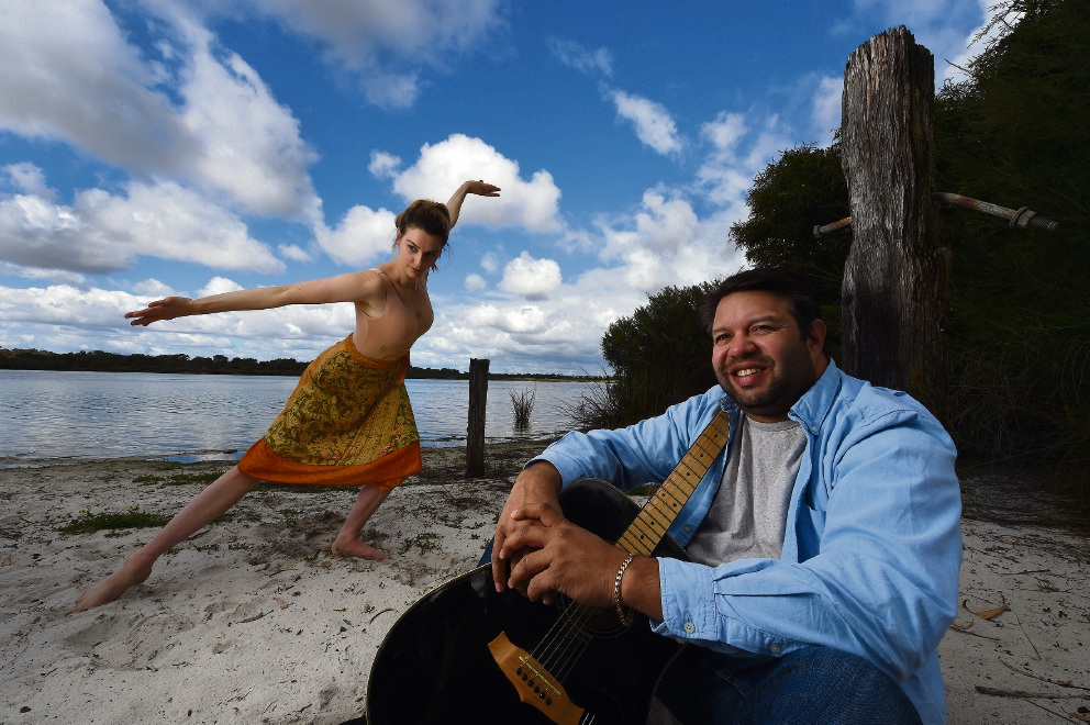 Musician Phil Walleystack and dancer Gala Shevstov.  Picture: Jon Hewson    d443696