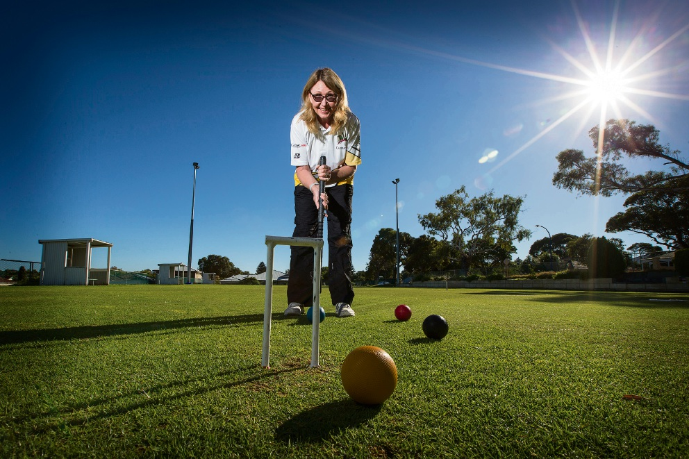 State croquet representative Megan Fardon. Picture: Will Russell        www.communitypix.com.au   d468470