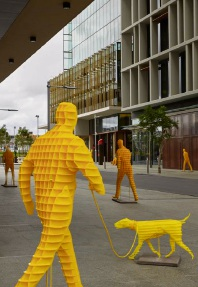 A temporary installation called Bright Yellow by April Pine.