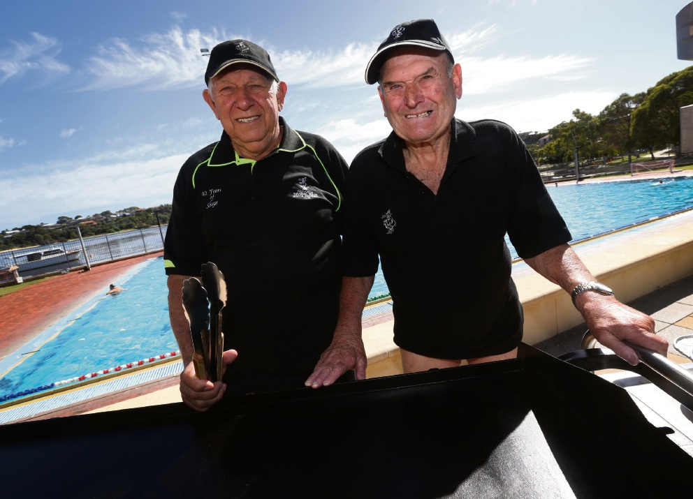 Brother-in-laws Charlie Favazzo and John Moore are ready for another season on the barbecue for the Fremantle Shivering Shags.