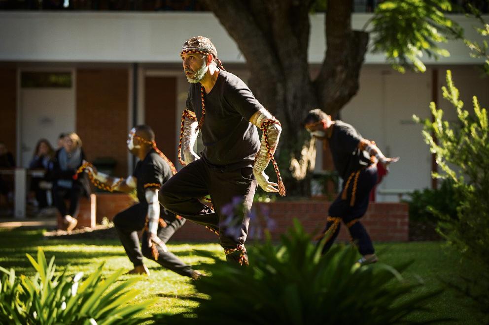 Wadumbah Dance Group brings Aboriginal culture to Applecross High School