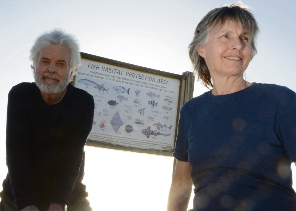 Cottesloe Fish Habitat Protection Area founders Ken Macintyre and Barbara Dobson.