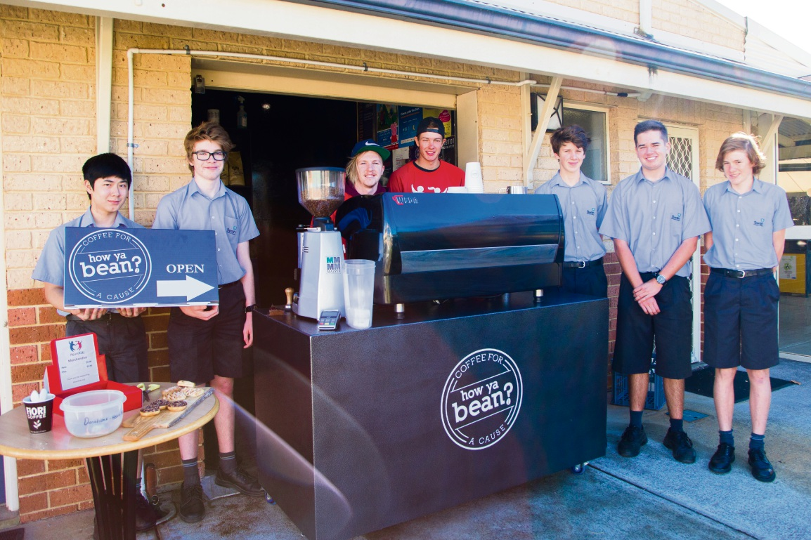 Swan Christian College students Alec Pham, James Cox, Keegan Woods, Nick Gillies, Asher Bettison, Ethan Unger and Cody Arnott.